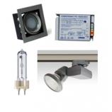 Металлогалогенные и люминесцентные светильники и комплектующие