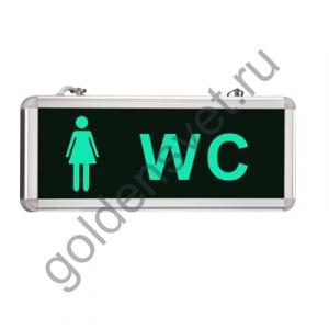 Световой указатель «WC» женский туалет