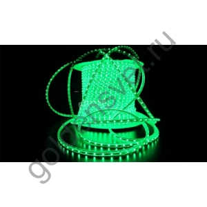 Светодиодная лента 3528 220V 60/м 4,8W/м Зелёная