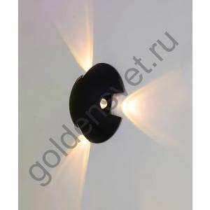 LED светильник настенный LWA0121C-BL-WW Черный 3*3Вт 3000