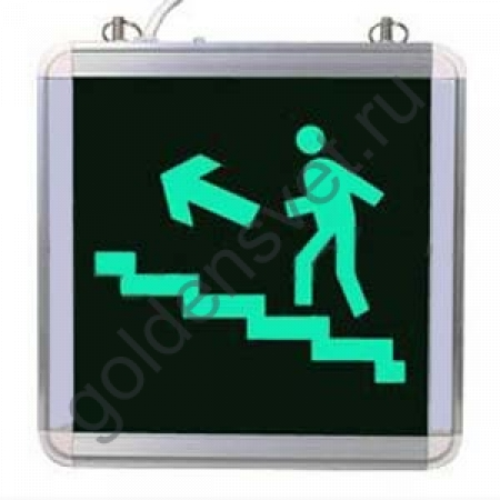 Световой указатель Лестница «ВВЕРХ-ЛЕВО»