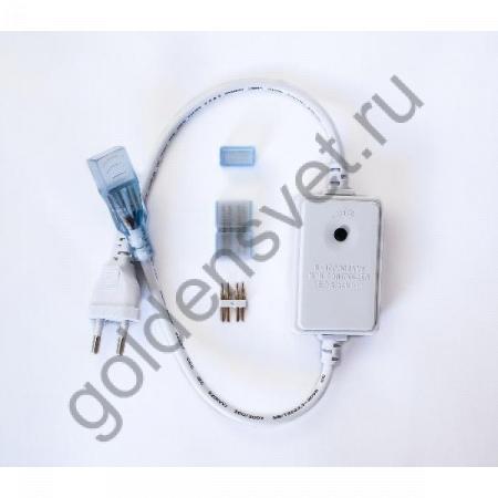 Сетевой шнур со встроенным контроллером RGB для ленты 220V